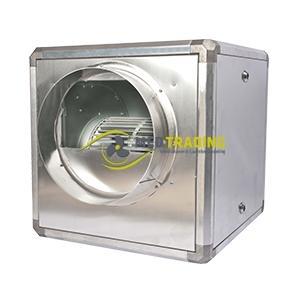 Slakkenhuis afzuigmotor in aluminium box